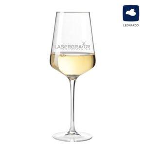 Weißweinglas Modern mit Logogravur