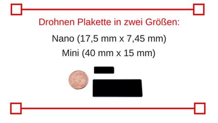 Größenvergleich mit einer 1-Cent-Münze