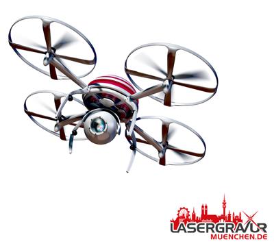 Drohnen Plakette gravieren lassen auf Lasergravur München