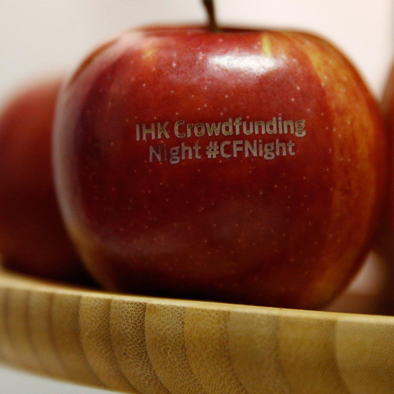 Apfel mit Gravur